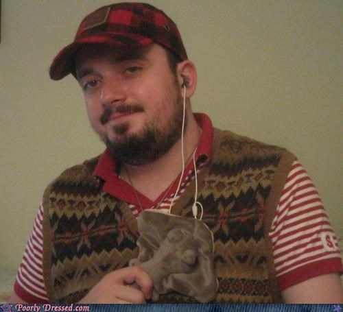 beard,hat,stingray,stuffed,sweater vest