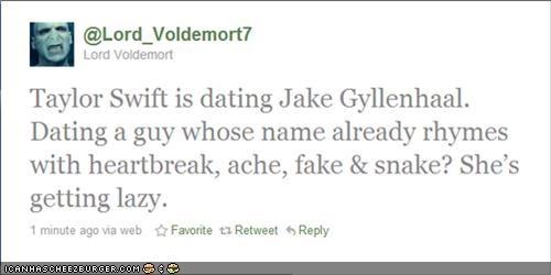 jake gyllenhaal,taylor swift,twitter,voldemort