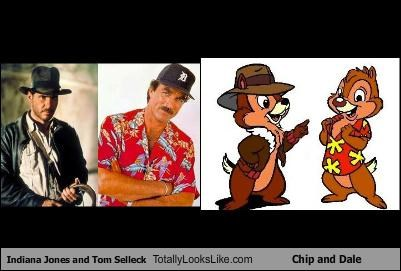 cartoons,chip and dale,Hall of Fame,Harrison Ford,Indiana Jones,tom selleck
