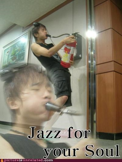 cool font,dude,emotional,fire extinguisher,Japan,jazz,Music,wtf