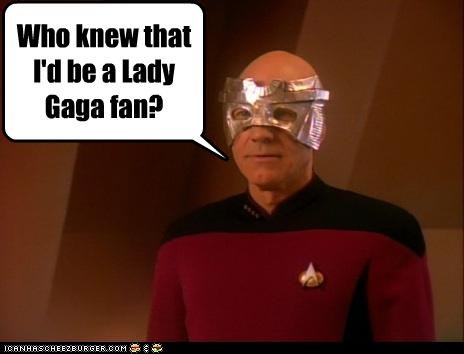 fans,fashion,lady gaga,lolz,patrick stewart,sci fi,Star Trek