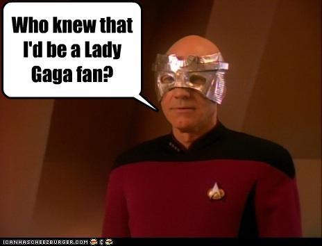 fans fashion lady gaga lolz patrick stewart sci fi Star Trek - 4106418176