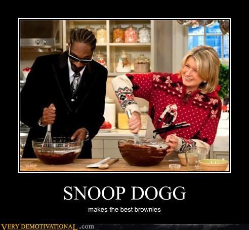 brownies celeb food Hall of Fame hilarious Martha Stewart rap snoop dogg wtf