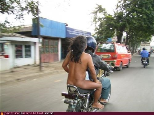 indonesia moped motorcycle nudity transportation wtf - 4107680256