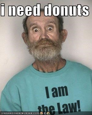 cop derp donuts mug shot officer of the law police stereotypes - 4108635392