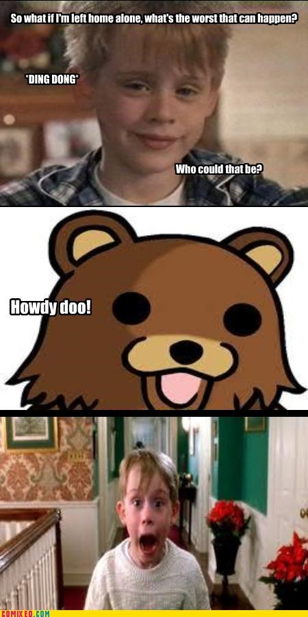 From the Movies Home Alone macaulay culkin pedobear pizza - 4108710400