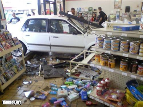 car classic convenience store crash g rated failboat parking - 4109911296
