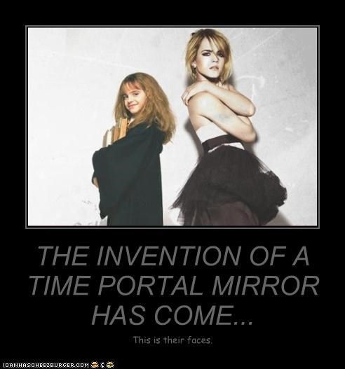 THE INVENTION OF A TIME PORTAL MIRROR HAS COME... This is their faces.
