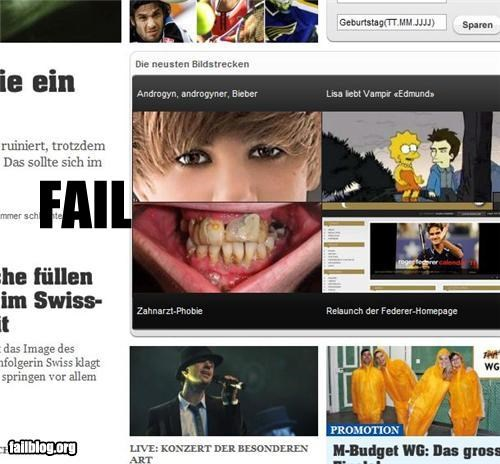 failboat g rated gross images justin bieber Juxtapositio teeth - 4111221248