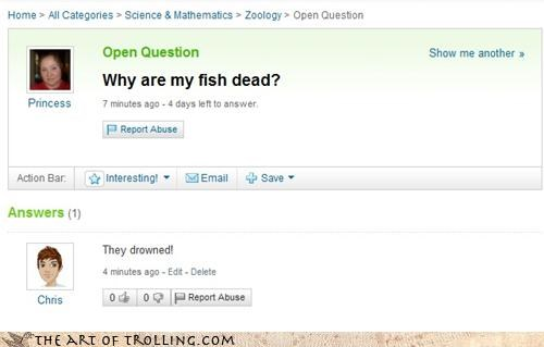 Death drowning fish murdered probable cause