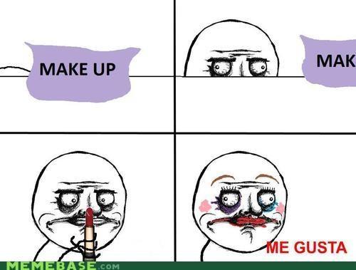 creepy makeup me gusta guy Memes - 4111610112