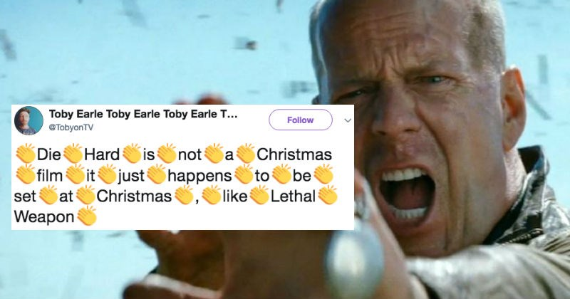 People on Twitter are in a fierce debate over whether or not Die Hard is a Christmas movie.