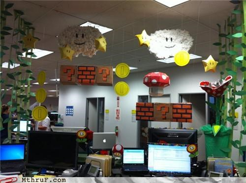 awesome mario Office pimp my cubicle video games