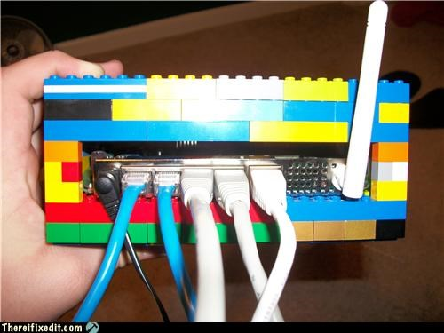 8 bit,awesome,lego,not a kludge,router
