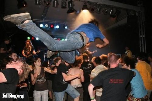 About to Fail,bad idea,faceplant,failboat,g rated,ouch,stage dive