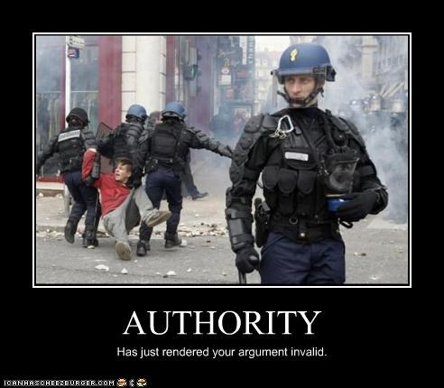 authority demotivational funny Hall of Fame lolz police Protest riot - 4113705984
