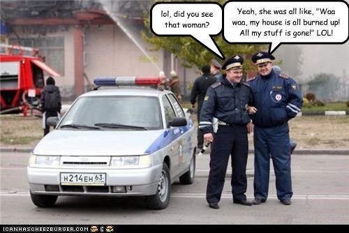 cops fire foreign funny lolz russia - 4114001408