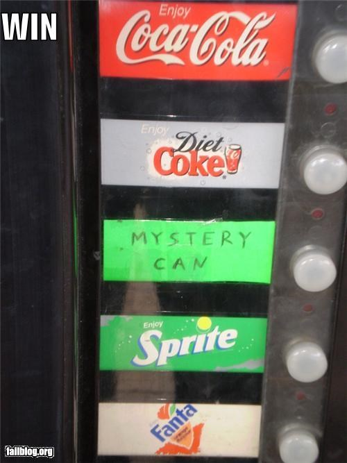 choice failboat g rated mystery cans soda vending machine win