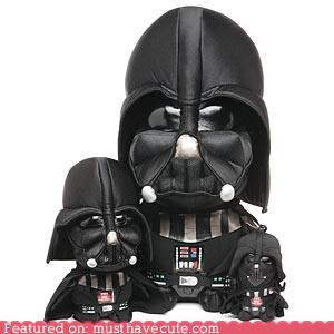 cute darth vader figurine large medium Plush Plushie sizes small soft star wars