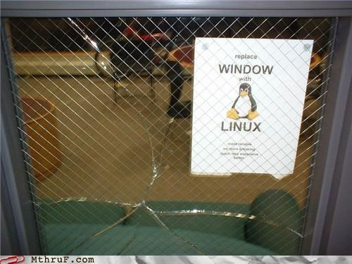 linux,penguin,signs,windows
