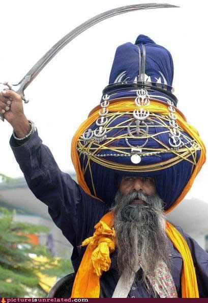 awesome character costume leveling up sword turban wtf - 4114803968