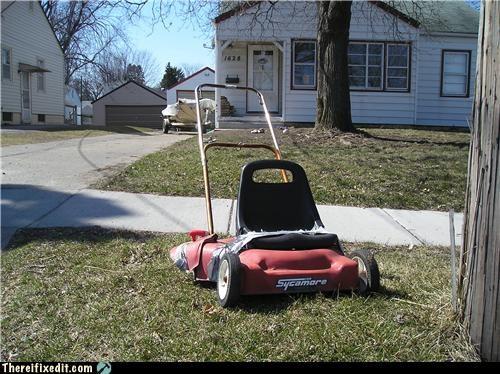 lawnmower stroller summer fun unsafe - 4114862848
