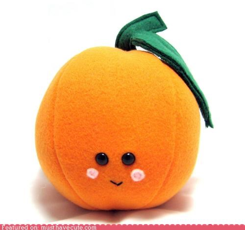 fruit leaf orange Plush snuggly soft - 4114932992