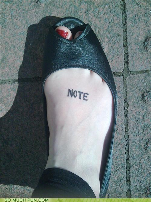 endnote foot footnote note tattoo - 4115351808