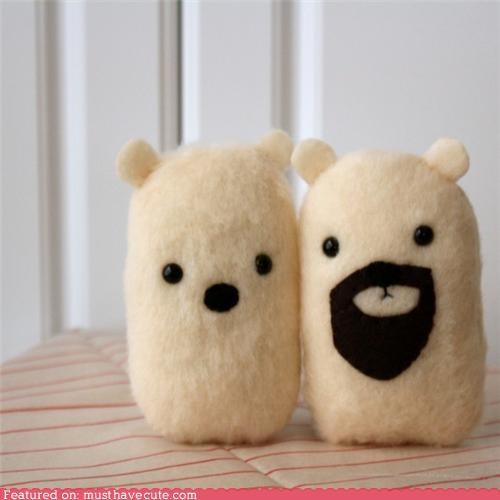 cute-kawaii-stuff-bearded-miniature-polar-bear-plushy Plush - 4115573504