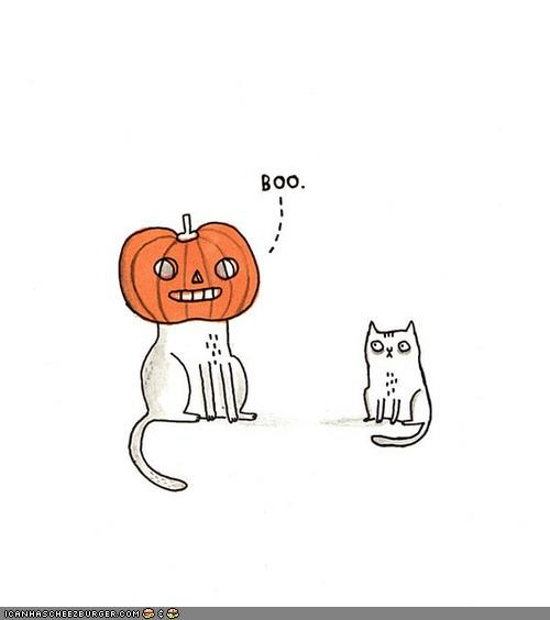 boo comics halloween meowloween pumpkins scared - 4115717376