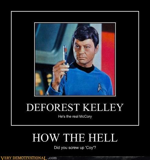 DeForest Kelley McCoy misspelling space Star Trek - 4116012288