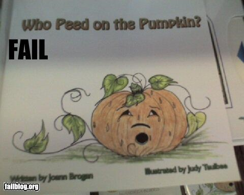 book title,books,failboat,halloween,pumpkins,urine