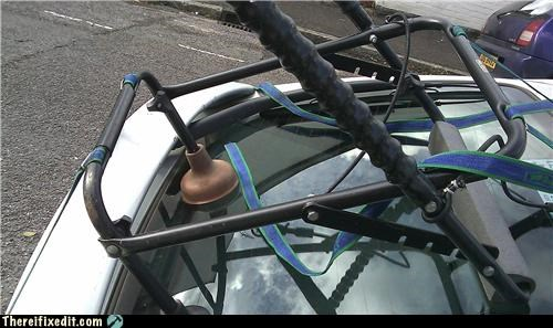 bike rack,plunger,suction,wtf