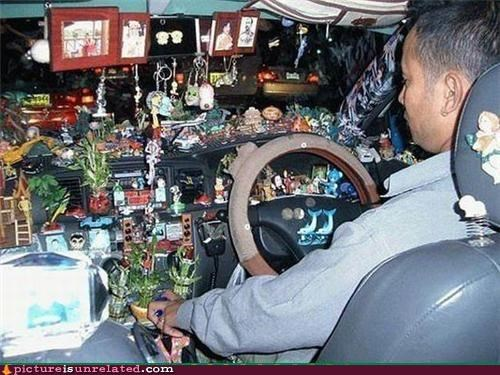 cars,cool guy,dashboard,junk,OverKill 9000,wtf