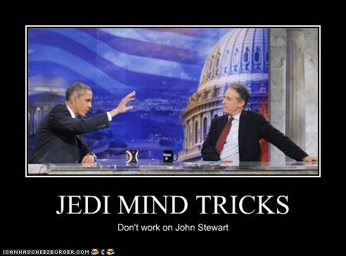 barack obama funny jon stewart lolz president - 4118547712