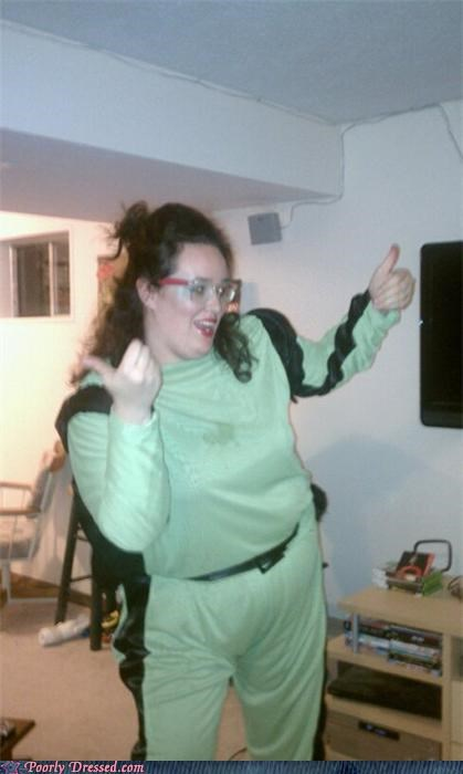 glasses,jump suit,polyester,weird