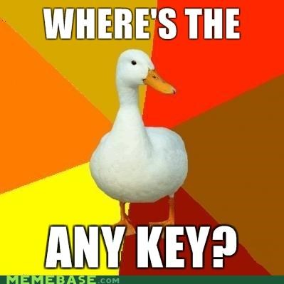 any key Memes Technologically Impaired Duck - 4120299520