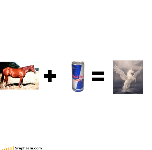 equation gives you wings horns horse pegasus red bull unicorn