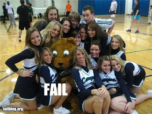 caught on camera cheerleaders failboat mascots sports - 4121376768