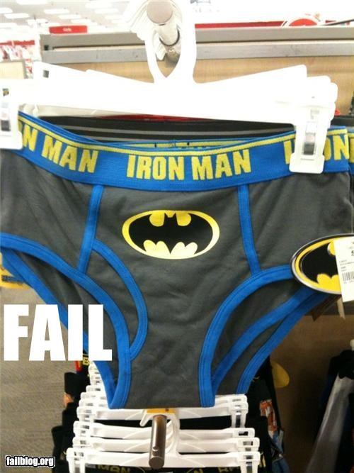 batman clothes failboat g rated iron man logos superheroes underwear - 4123284224