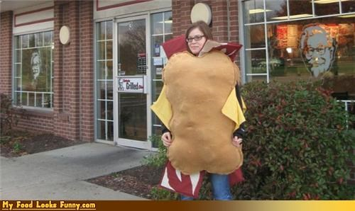burgers and sandwiches,costume,Double Down,halloween,homemade,kfc,KFC Double Down costume