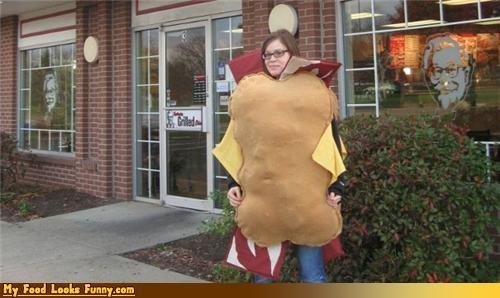 burgers and sandwiches costume Double Down halloween homemade kfc KFC Double Down costume - 4123972864