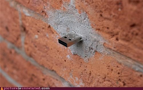 bricks,technology,urban,USB,wtf