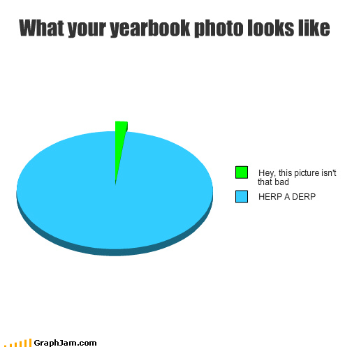 college,herp a derp,high school,photos,Pie Chart,yearbook