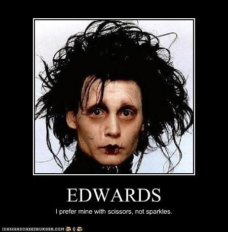 actor edward cullen Edward Scissorhands Hall of Fame Johnny Depp lolz movies Sparkle twilight - 4124560384