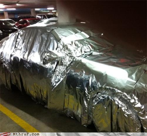 back to the future car prank tinfoil - 4124731648