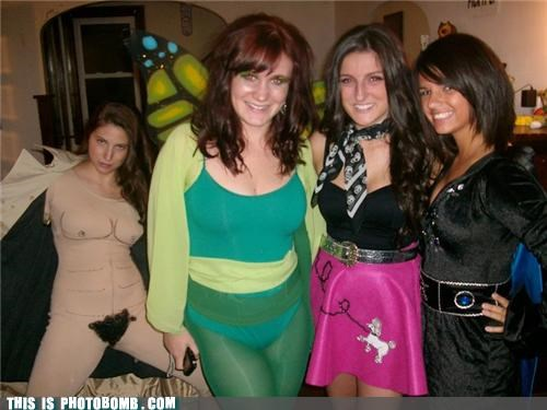 babes boobs costume Moment Of Win photobomb - 4124840448