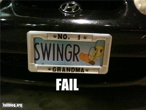 failboat,grandmothers,gross,license plate holders,license plates,number 1,Swingers