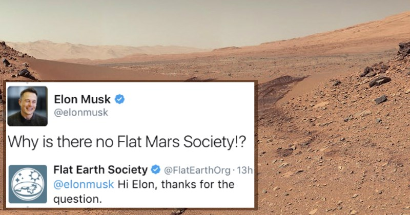 Elon Musk Asks the 'Flat Earth Society' A Question and They Fail to See the Irony of Their Own Answer