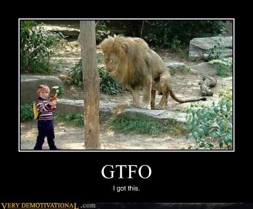 animals,gtfo,guns,impossible,kids,lion,Pure Awesome